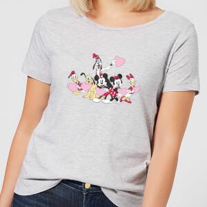 Disney Mickey Mouse Love Friends Women's T-Shirt - Grey