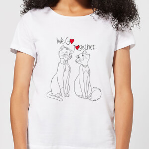 T-Shirt Disney Aristogatti We Go Together - Bianco - Donna