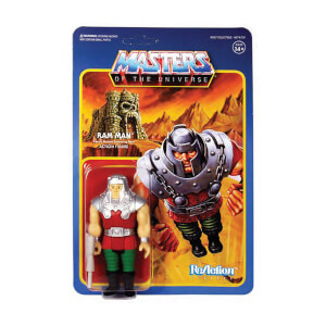 Super7 Masters of the Universe ReAction actiefiguur Wave 4 Ram Man (10 cm)