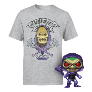 Metallic Skeletor Exc Pop! And T-Shirt Bundle