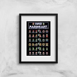 Nintendo Retro Racer Art Print