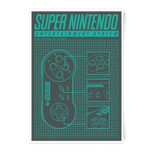 Nintendo SNES Controller Art Print