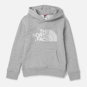 The North Face Kids' Drew Peak Pull Over Hoodie - TNF Light Grey Heather/TNF White
