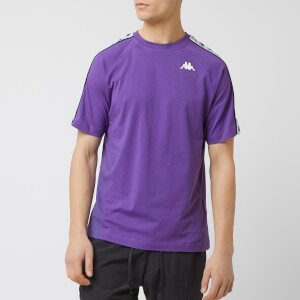 Kappa Men's Banda Coen Short Sleeve T-Shirt - Violet Black