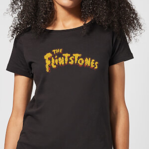 The Flintstones Logo Women's T-Shirt - Black