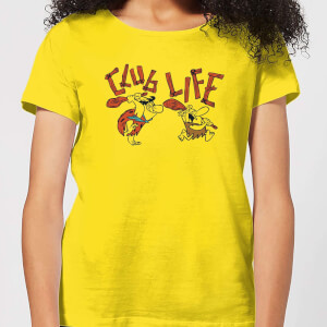 The Flintstones Club Life Women's T-Shirt - Yellow