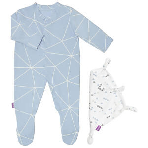 Snüz Baby Sleepsuit and Comforter Gift Set (0-3m) - Geo Breeze