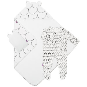 Snüz Baby Bath and Bed Gift Set - Wave Mono