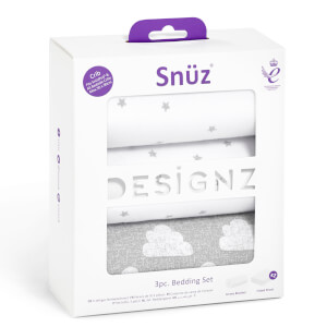 Snüz 3 Piece Bedside Crib Bedding Set - Cloud Nine