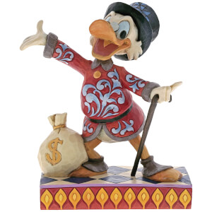 Disney Traditions Treasure Seeking Tycoon (Scrooge with Money Bag Figurine) 16.5cm