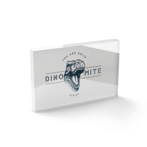 You Are Solid Dino-mite Glass Block - 80mm x 60mm
