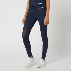 Tommy Hilfiger Sport Women's Full Length Leggings With Mesh - Sport Navy