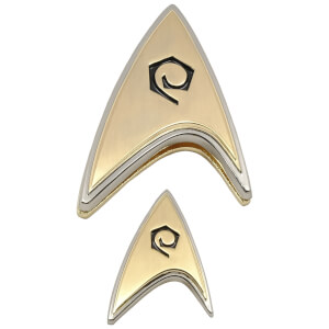 Quantum Mechanix Star Trek: Discovery Enterprise Operations Badge and Pin Set