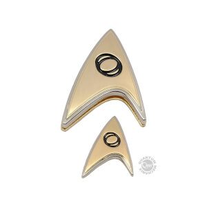 Quantum Mechanix Star Trek: Discovery Enterprise Science Badge and Pin Set