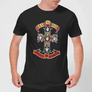 Guns N Roses Appetite For Destruction Herren T-Shirt - Schwarz