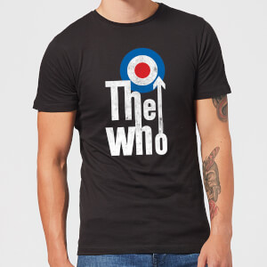 The Who Target Logo Herren T-Shirt - Schwarz