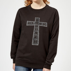 Black Sabbath Cross Damen Sweatshirt - Schwarz