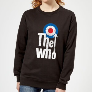 The Who Target Logo Damen Sweatshirt - Schwarz