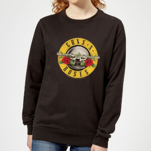 Guns N Roses Bullet Women's Sweatshirt - Black