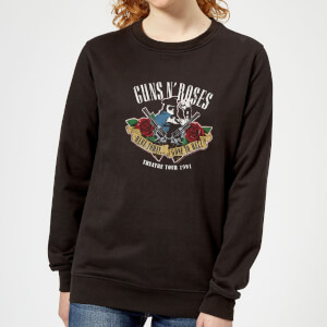 Guns N Roses Here Today... Gone To Hell Women's Sweatshirt - Black