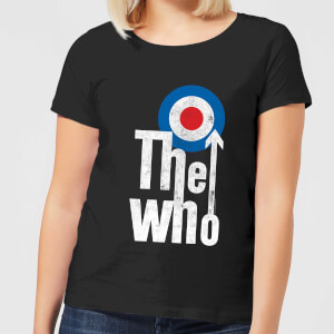 The Who Target Logo Damen T-Shirt - Schwarz