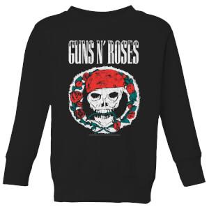 Guns N Roses Circle Skull Kids' Sweatshirt - Black