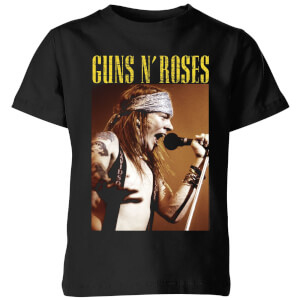 Guns N Roses Axel Live Kids' T-Shirt - Black