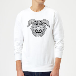 Mr Pickles Pattern Face Sweatshirt - White