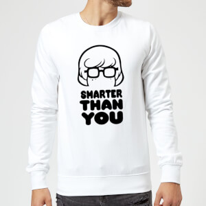 Scooby Doo Smarter Than You Sweatshirt - White