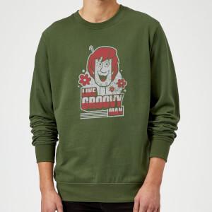 Scooby Doo Like, Groovy Man Sweatshirt - Forest Green