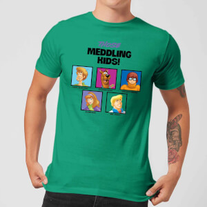 Scooby Doo Meddling Kids Men's T-Shirt - Kelly Green