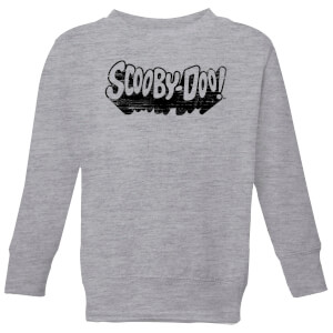 Scooby Doo Retro Mono Logo Kids' Sweatshirt - Grey