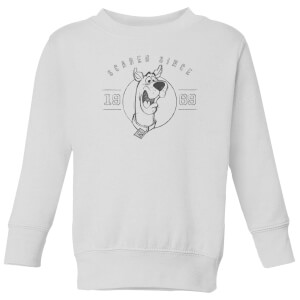 Scooby Doo Scared Since '69 Kids' Sweatshirt - White
