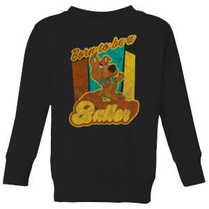 Scooby Doo Born To Be A Baller Kids' Sweatshirt - Black