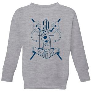 Scooby Doo Coat Of Arms Kids' Sweatshirt - Grey