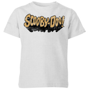 Scooby Doo Retro Colour Logo Kids' T-Shirt - Grey