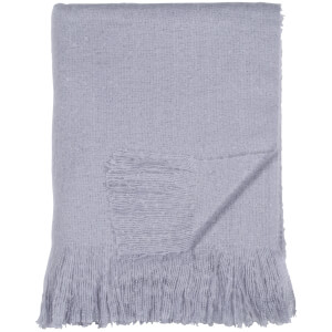 DKNY Mohair Look Throw - Purple
