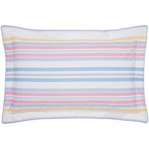Joules Summer Fruit Stripe Oxford Pillowcase - Pink