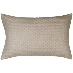 DKNY Geo Jersey Knit Standard Pillowcase - Mushroom