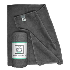 Below the Belt Microfibre Towel (290gsm) - Grey - 60cm x 40cm (Free Gift)