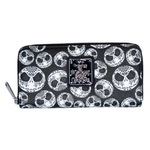 Loungefly Nightmare Before Christmas Jack Sugar Skull Zip Around Wallet