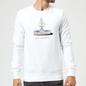 Friends Fountain Sweatshirt - White