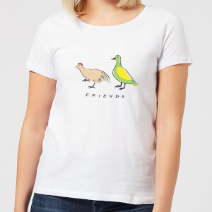 Friends The Chick And The Duck Women's T-Shirt - White