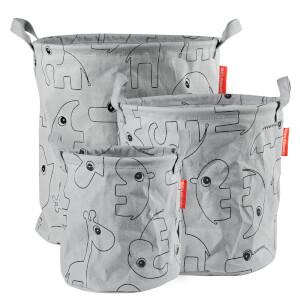 Done by Deer 3 Pack Storage Baskets - Grey