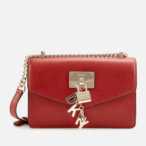 DKNY Women's Elissa Small Shoulder Flap Bag - Bright Red