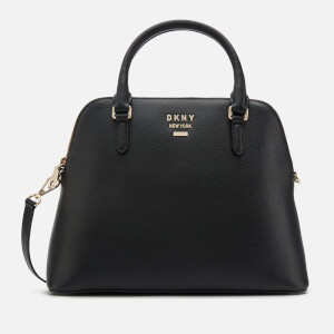 DKNY Women's Whitney Large Dome Satchel Bag - Black