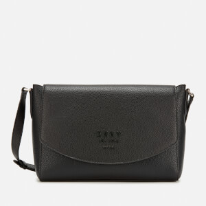 DKNY Women's Noho Flap Messenger Bag - Black + Vicuna