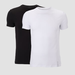 MP Luxe Classic Crew T-Shirt - Black/White (2 Pack)