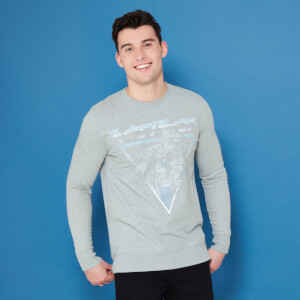 Transformers Megatron Retro Japanese Sweatshirt - Grey