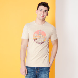 Looney Tunes Kaboom Collection Surf Men's T-Shirt - Stone Wash - Cream